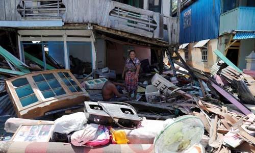 Gempa dan tsunami di Indonesia: Memperkuat pasukan pertolongan dan menjamin keamanan di Palu - ảnh 1