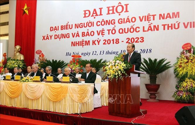 Pembukaan Kongres nasional ke-7 Umat Katolik Viet Nam membangun dan membela Tanah Air, masa bakti 2018-2023 - ảnh 1