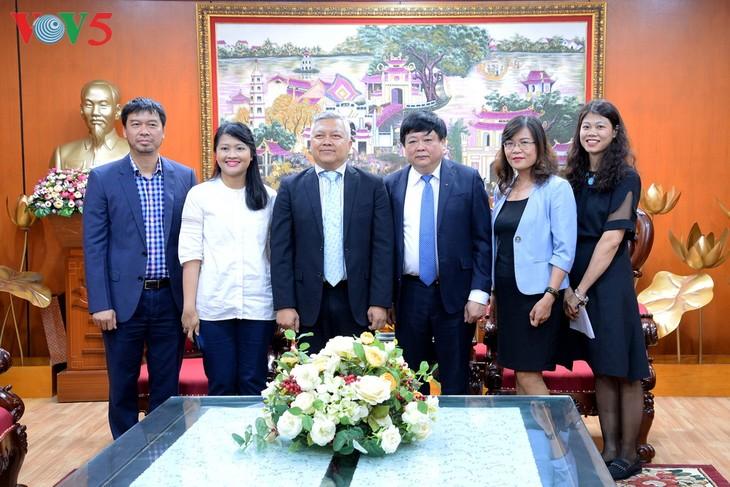 Kedubes Indonesia di Viet Nam mendukung VOV membuka Kantor Perwakilan Tetap di Indonesia - ảnh 1
