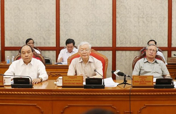 Sekjen, Presiden Vietnam, Nguyen Phu Trong memimpin sidang Polit Biro KS PKV - ảnh 1