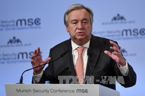 Sekjen PBB mengimbau untuk melakukan investigasi independen tentang serangan terhadap kapal tanker minyak di Teluk Oman - ảnh 1