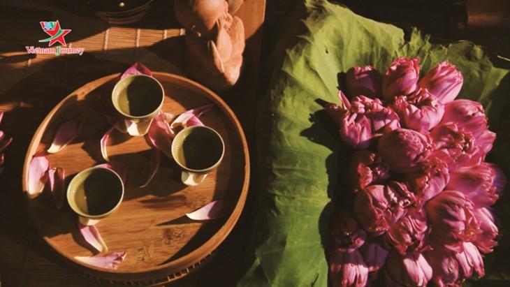 Mengunjungi Vietnam, memandangi warna bunga teratai di musim panas - ảnh 8