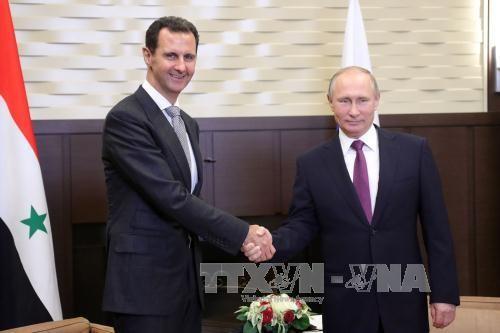 Rusia berkomitmen bersama dengan Suriah membela dan merekonstruksi Tanah Air - ảnh 1