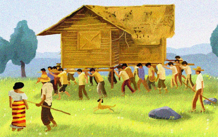 Bayanihan, house-moving tradition of the Philippines  - ảnh 1
