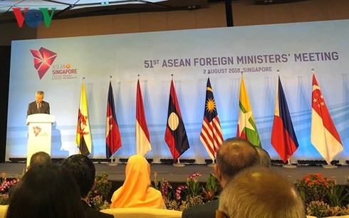 ASEAN Foreign Ministers begin talks in Singapore - ảnh 1