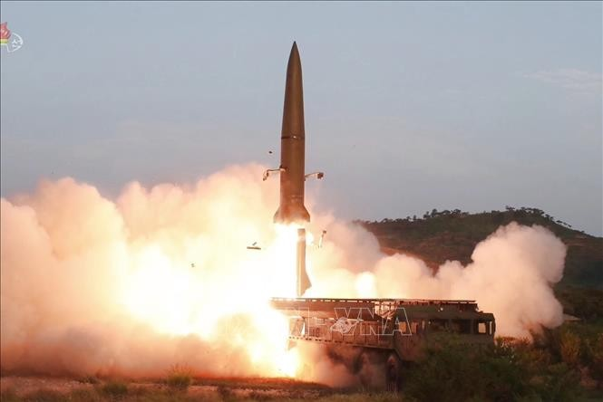 North Korea says it tested new rocket system - ảnh 1