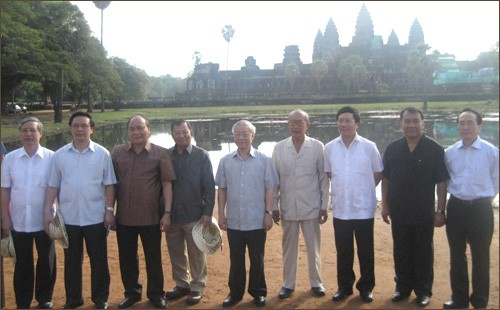 Генеральный секретарь ЦК КПВ Нгуен Фу Чонг завершил визит в Камбоджу - ảnh 1
