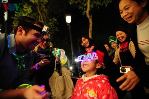 Новогодняя атмосфера в Ханое - ảnh 1