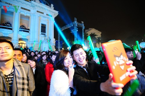 Новогодняя атмосфера в Ханое - ảnh 9