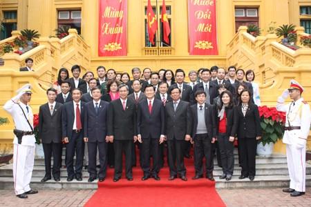 Президент Чыонг Тан Шанг посетил здания Верховного народного суда,... - ảnh 1