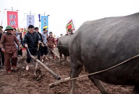 Президент СРВ Чыонг Тан Шанг принял участие в празднике «Тик Диен» - ảnh 1