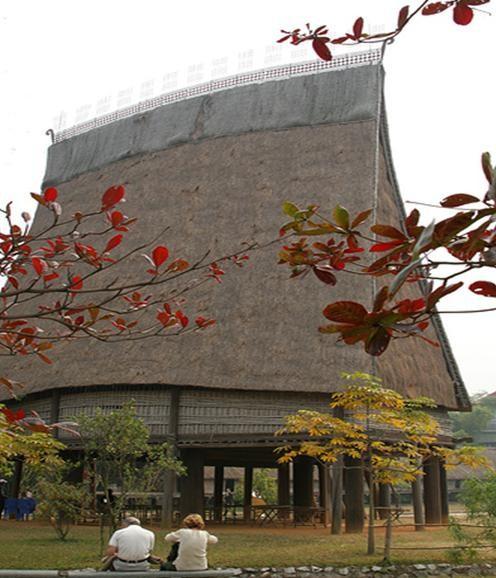 Дом «ронг» народности Бана, населяющей плоскогорье Тэйнгуен - ảnh 1