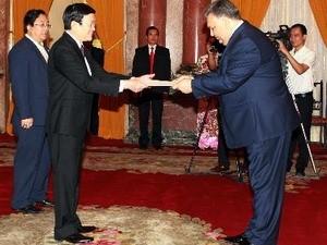 Президент Чыонг Тан Шанг принял верительные грамоты от послов стран мира - ảnh 1