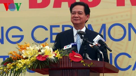 Премьер-министр СРВ принял участие в церемонии начала строительства комплекса «Нгишон» - ảnh 1