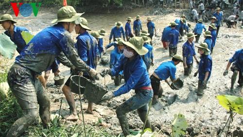 Молодежь Бакниня прилагает совместные усилия для строительства новой деревни - ảnh 2