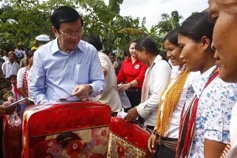 Президент Вьетнама Чыонг Тан Шанг посетил провинцию Куангнам - ảnh 1