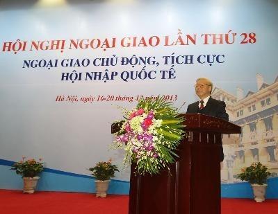 Генсек ЦК КПВ принял участие в 28-й конференции дипломатического ведомства - ảnh 1
