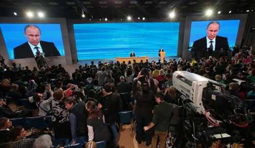 Владимир Путин организовал 9-ю ежегодную пресс-конференцию - ảnh 1