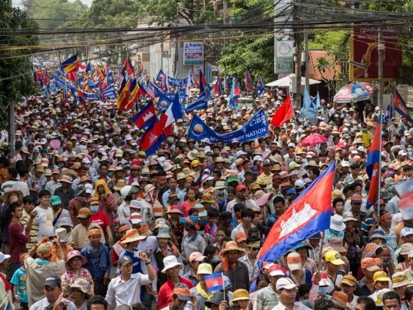 Камбоджийская оппозиция заявила о приостановке демонстраций - ảnh 1