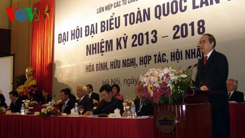 В Ханое открылся 5-й съезд Союза обществ дружбы Вьетнама с зарубежными странами - ảnh 1