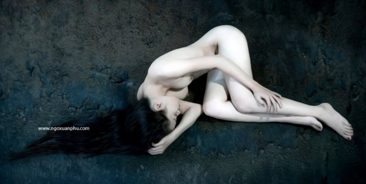 Первая лицензированная во Вьетнаме фотовыставка обнажённой женской натуры - ảnh 6