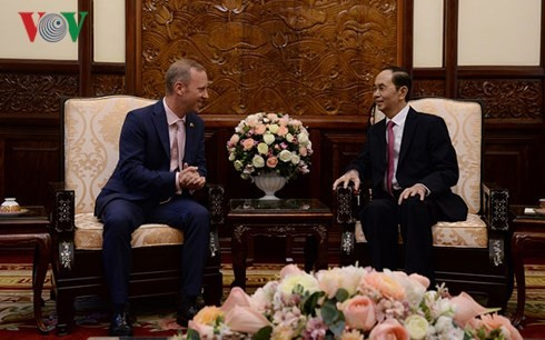 Президент Вьетнама принял послов зарубежных стран, которые прибыли для вручения верительных грамот - ảnh 1