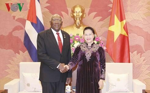 Президент и спикер парламента Вьетнама приняли зампредседателя Госсовета Кубы - ảnh 1