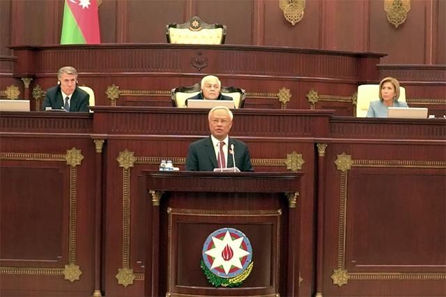 Вице-спикер парламента СРВ принял участие в праздновании 100-летия со дня образования парламента Азербайджана - ảnh 1