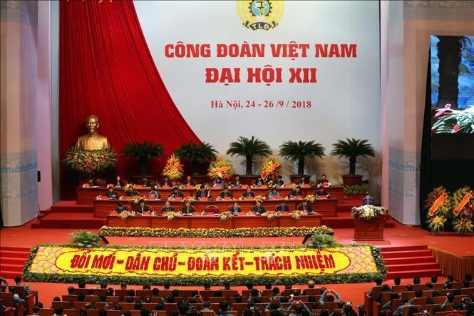 В Ханое открылся 12-й съезд вьетнамских профсоюзов - ảnh 1
