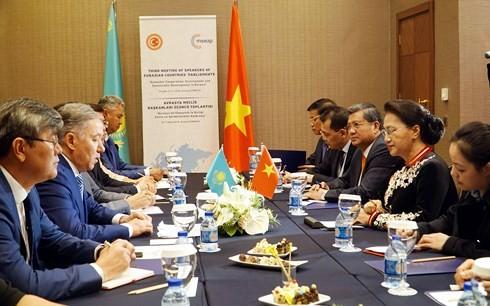 Нгуен Тхи Ким Нган встретилась с председателем Мажилиса парламента Казахстана Нурланом Нигматулином - ảnh 1