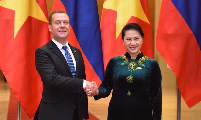 Председатель Национального собрания Вьетнама встретилась с председателем правительства РФ - ảnh 1