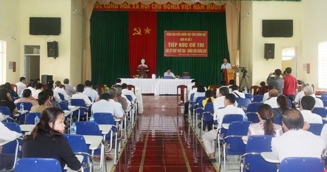 Руководители партии и государства встретились с избирателями - ảnh 1