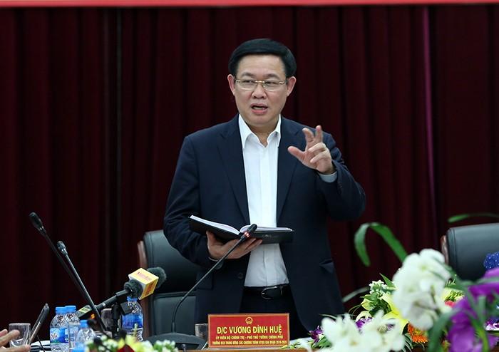 Вице-премьер Выонг Динь Хюэ провел рабочую встречу с руководителями провинции Лайтяу - ảnh 1