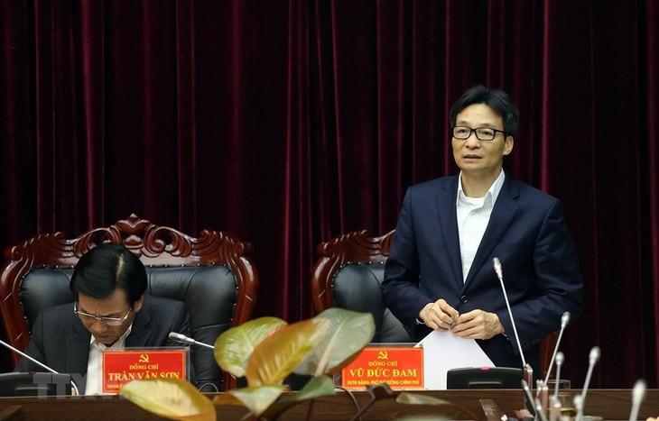 Вице-премьер Ву Дык Дам провел рабочую встречу с руководителями провинции Диенбиен - ảnh 1