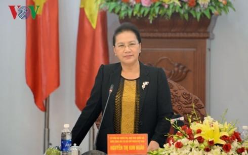 Председатель НС СРВ посетила провинцию Зялай с рабочим визитом  - ảnh 1