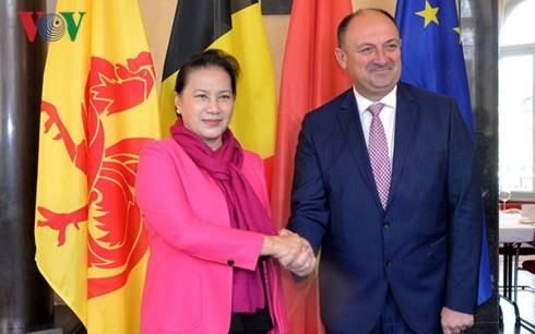 Председатель НС СРВ встретилась с министр-президентом бельгийского региона Валлония - ảnh 1