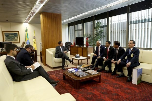 Вице-президент Бразилии принял вице-спикера парламента Вьетнама  - ảnh 1
