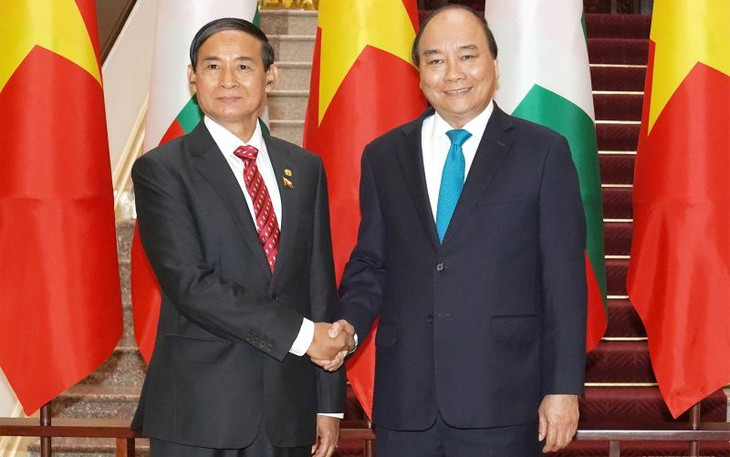 Премьер-министр Вьетнама встретился с президентом Мьянмы - ảnh 1
