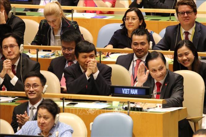 Вьетнам избран непостоянным членом Совета безопасности ООН с почти максимальной поддержкой - ảnh 1