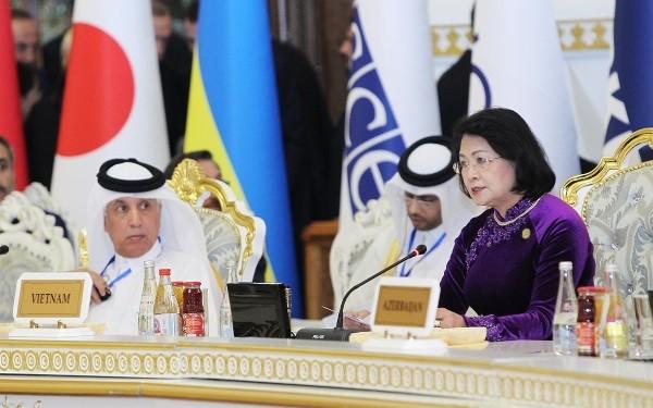 Вице-президент Вьетнама приняла участие в СВМДА - ảnh 1