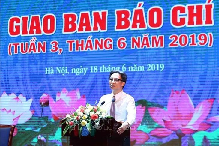 Встреча с журналистами по случаю 94-й годовщины Дня вьетнамской революционной прессы - ảnh 1
