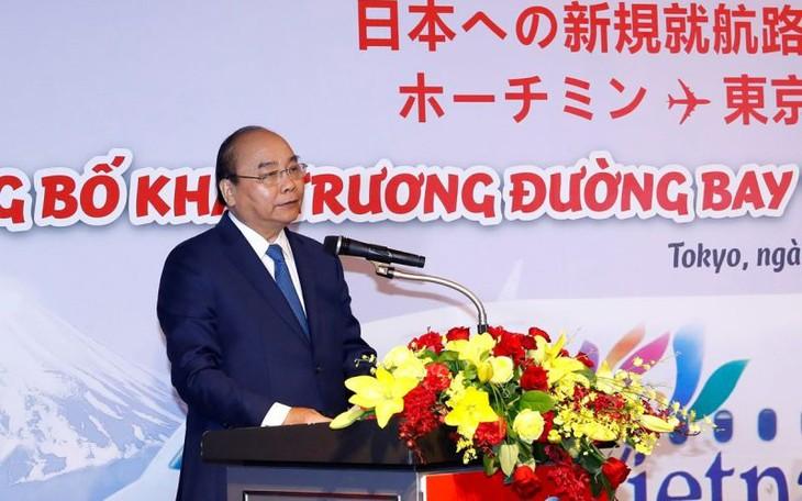 Премьер-министр Вьетнама присутствовал на презентации новых авиарейсов в Японию - ảnh 1