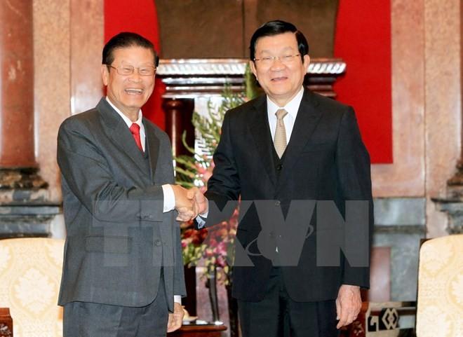 Chủ tịch nước Trương Tấn Sang tiếp Phó Thủ tướng Lào Somsavad Lengsavath - ảnh 1