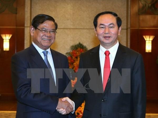 Chủ tịch nước Trần Đại Quang tiếp Phó Thủ tướng Campuchia Sar Kheng  - ảnh 1