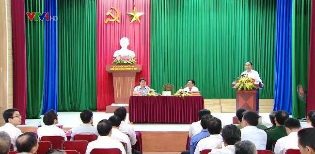 Chủ tịch nước Trần Đại Quang thăm và làm việc tại xã Nghĩa Đồng, Tân Kỳ, Nghệ An - ảnh 1