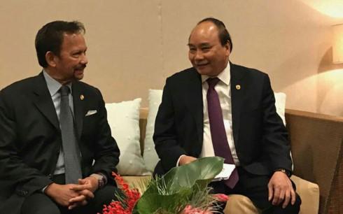 Thủ tướng Nguyễn Xuân Phúc gặp Quốc vương Brunei - ảnh 1