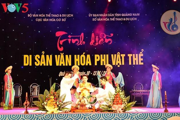 Khai mạc Liên hoan nghệ thuật văn hóa phi vật thể tại Quảng Nam - ảnh 1