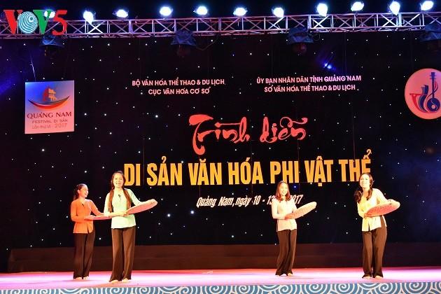 Khai mạc Liên hoan nghệ thuật văn hóa phi vật thể tại Quảng Nam - ảnh 2