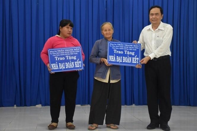Chủ tịch Ủy ban Trung ương Mặt trận Tổ quốc Việt Nam Trần Thanh Mẫn làm việc tại Tây Ninh  - ảnh 1