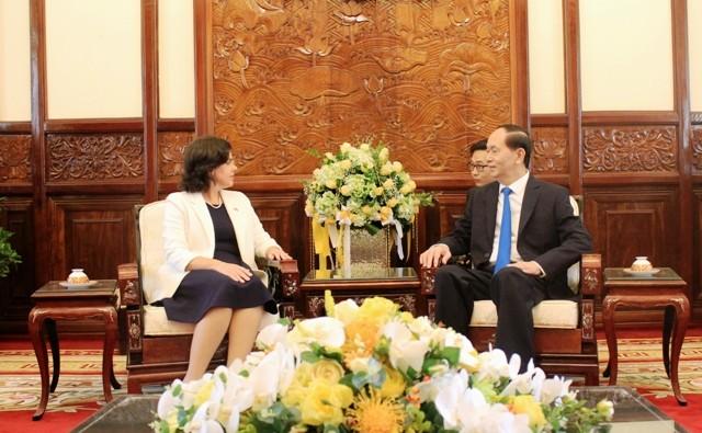 Chủ tịch nước Trần Đại Quang tiếp các Đại sứ trình quốc thư - ảnh 5